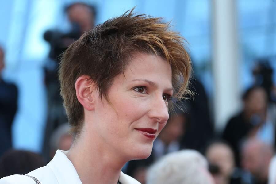 Natacha Polony lors de la montée des marches pour Le Petit Prince, au 68ème Festival de Cannes, le 22 mai 2015.