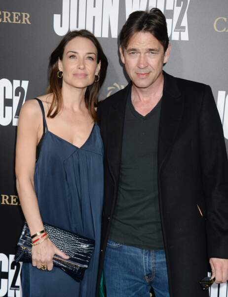 Claire Forlani et son mari Dougray Scott ont préféré rester classiques côté tenues...