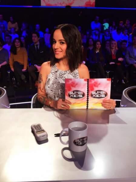 Alizée a un nouveau job : elle est membre du jury de Superkids.