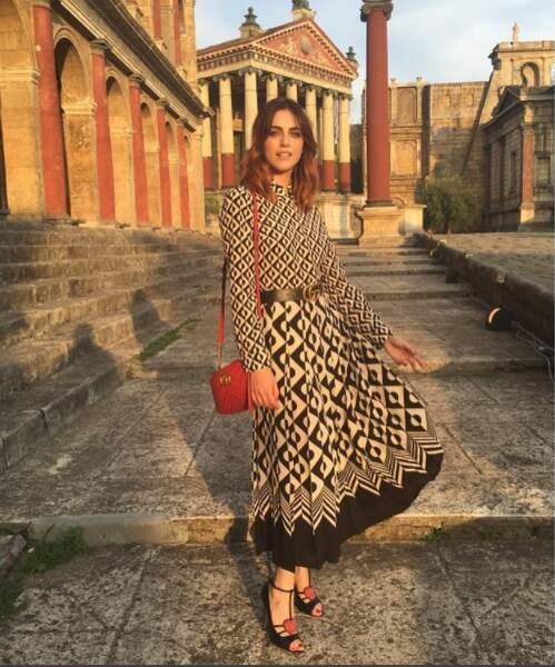 Quand elle ne tourne pas, l'ex-Miss Italie adore flâner dans son pays