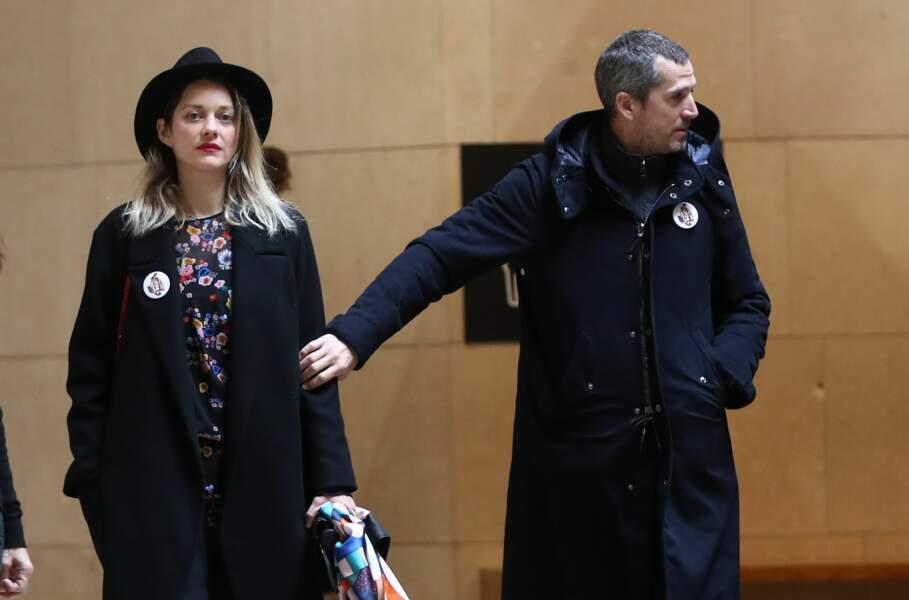 Le couple vient rendre un dernier hommage à Agnès Varda