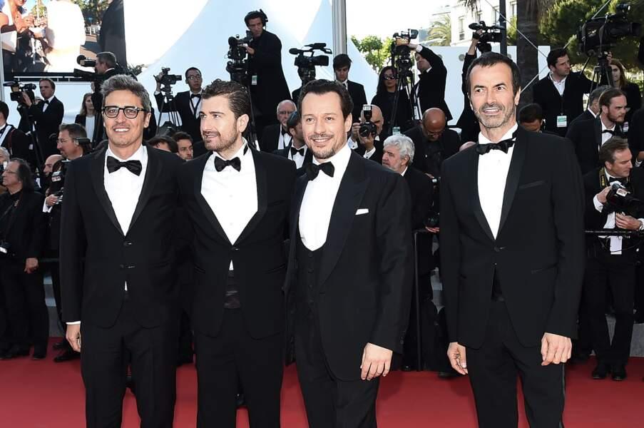Andrea Occhipinti, Stefano Accorsi, Alessandro Siani et Pif lors de la montée des marches pour Le Petit Prince