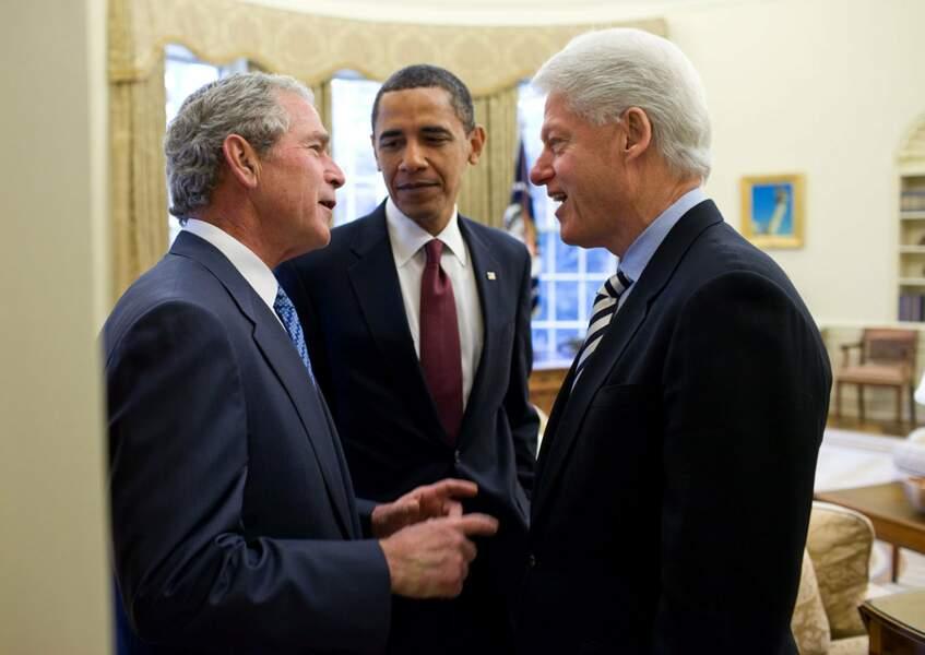 En 2010, Barack Obama demande conseil à ses prédécesseurs pour le tremblement de terre à Haïti