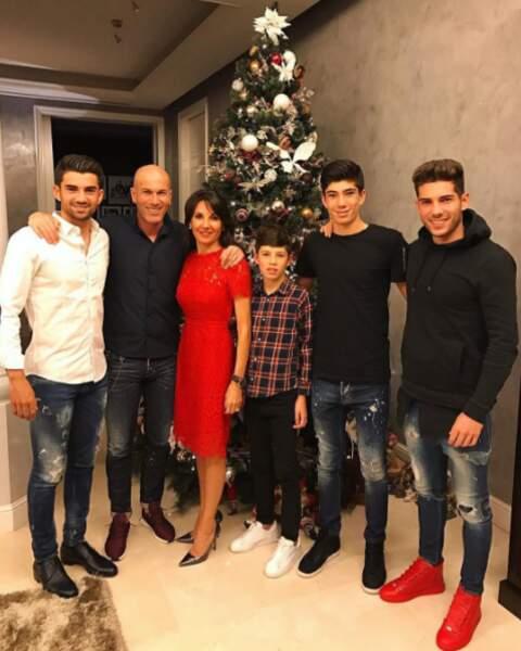 Chez les Zidane, réveillon en famille à la maison !