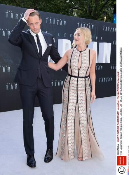 Le couple phare du film : Alexander Skarsgård et Margot Robbie (alias Tarzan et Jane) étaient de toute beauté !