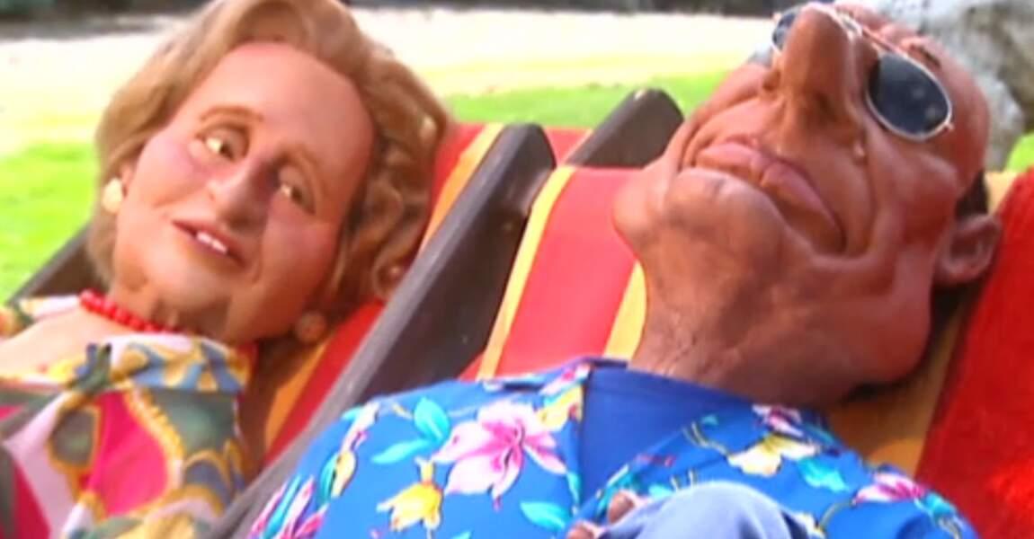 """""""Mangez des pommes !"""" : Jacques Chirac et son épouse Bernadette."""