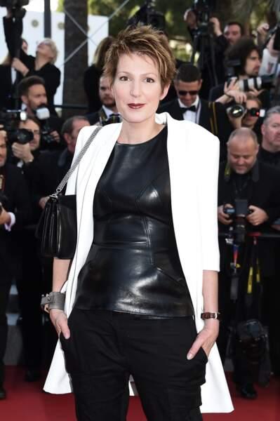 Natacha Polony lors de la montée des marches pour Le Petit Prince au Festival de Cannes