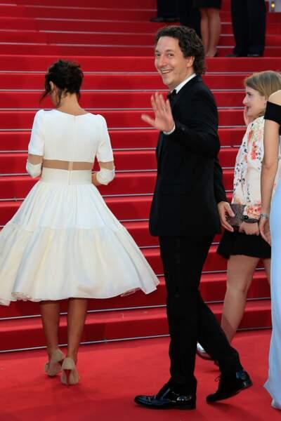 Guillaume Gallienne lors de la montée des marches pour Le Petit Prince, au 68ème Festival de Cannes