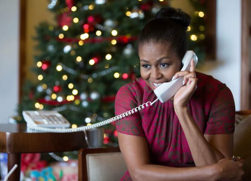 Dernier Noël des Obama, Michelle en profite pour conter des histoires aux enfants par téléphone