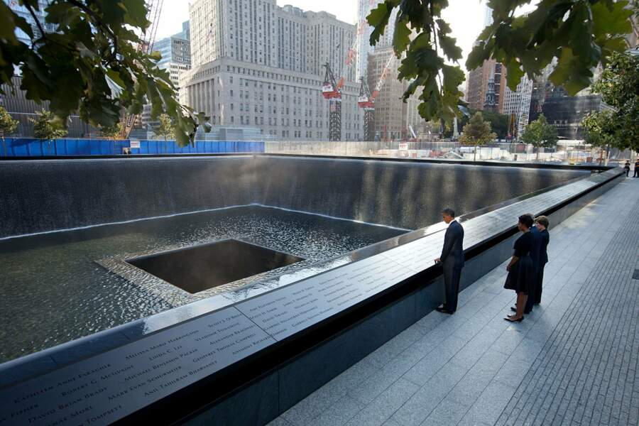 Au Mémorial du 11 septembre, Barack Obama n'a pu cacher son émotion