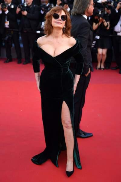 Susan Sarandon, la poitrine à l'air !