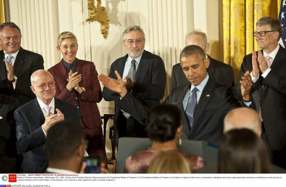 Le Président remet la Médaille de la Liberté (la plus haute distinction civile) à plusieurs personnalités...