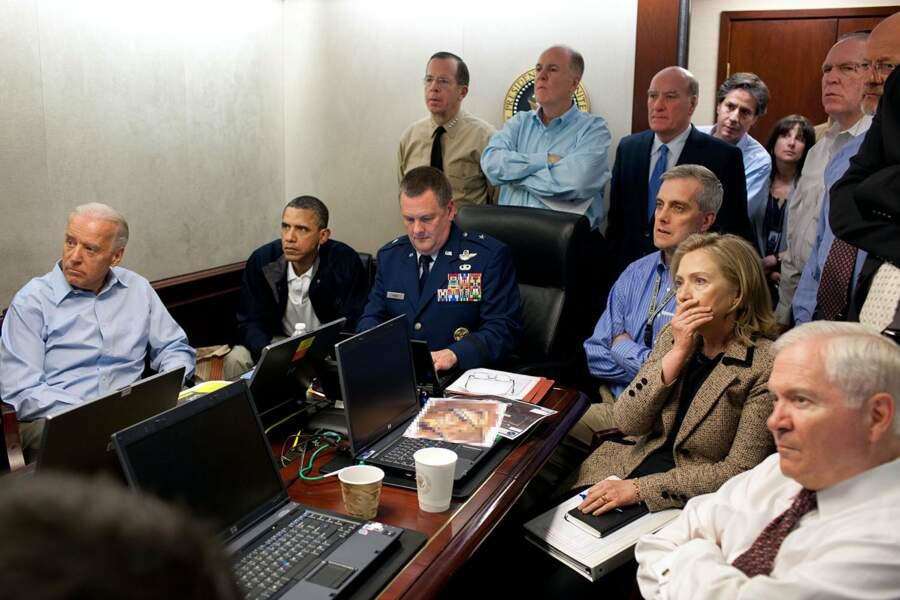 """En 2011, dans la """"situation room"""", il assiste tendu à l'exécution d'Oussama Ben Laden"""