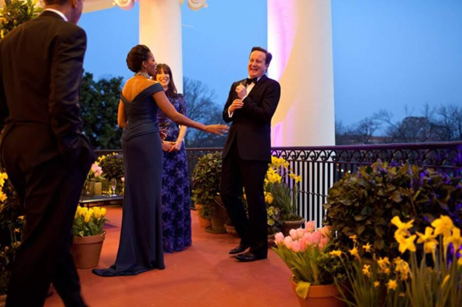 14 mars 2012 : la Maison-Blanche se pare de ses plus beaux atours pour recevoir David Cameron