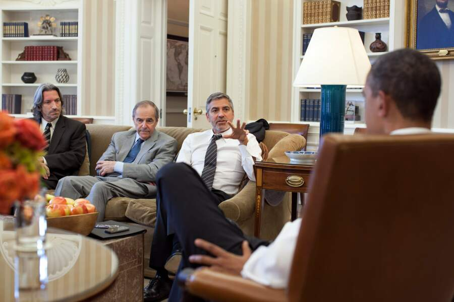 S'il a reçu plusieurs fois George Clooney, le président était proche de nombreuses stars
