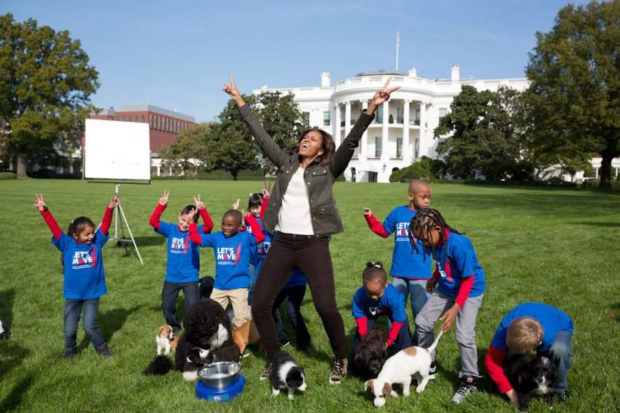 La First Lady s'est toujours investie auprès des enfants