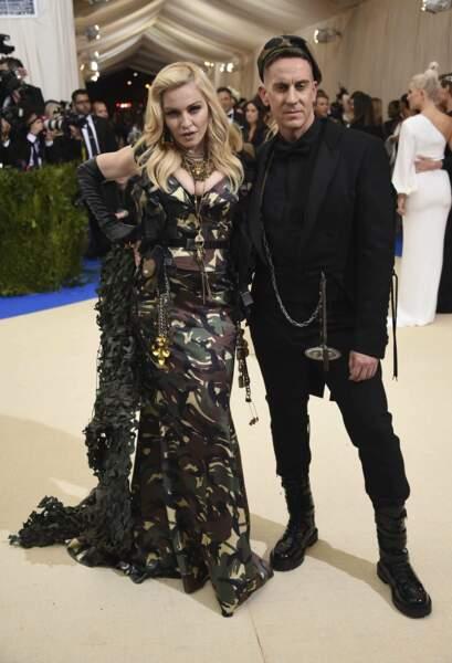 Madonna était prête au combat aux côtés de Jérémy Scott.