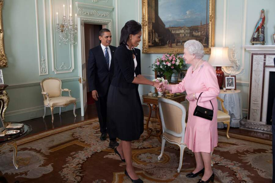 1er avril 2009 : Le Président rend visite à la reine Elisabeth II