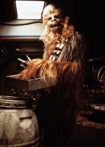 Chewbacca grogne et gémit. C'est tout. Et oui.