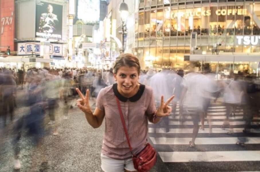 Globe-trotter dans l'âme, la voici à Tokyo !