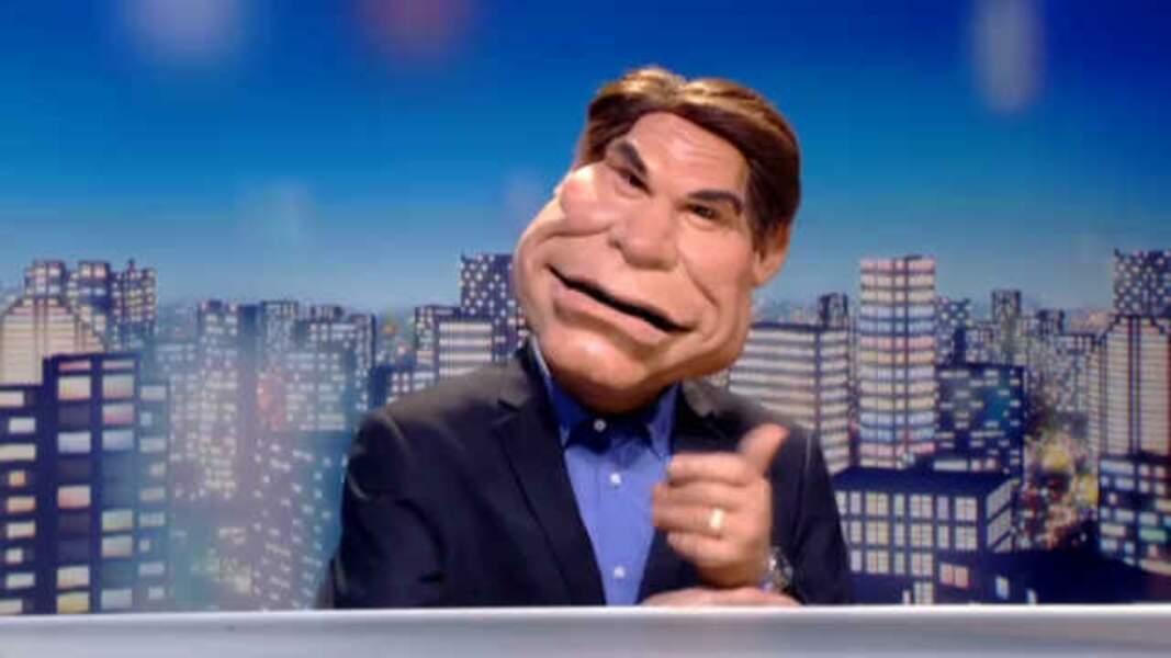 Bernard Tapie, ancien homme politique, avait sa marionnette.
