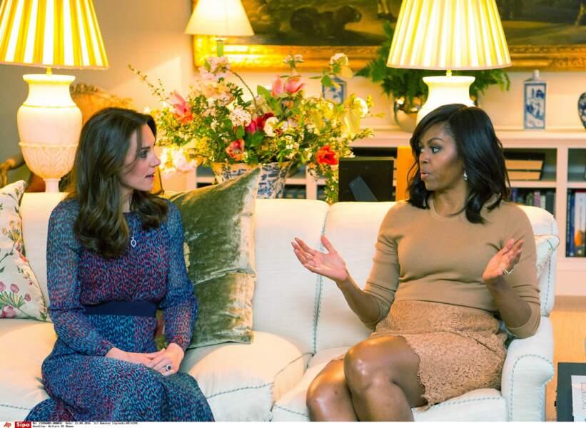 … et surtout, de quoi parlait Michelle Obama à ce moment-là