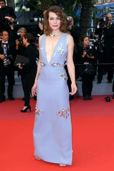 Milla Jovovich est une habituée de la Croisette