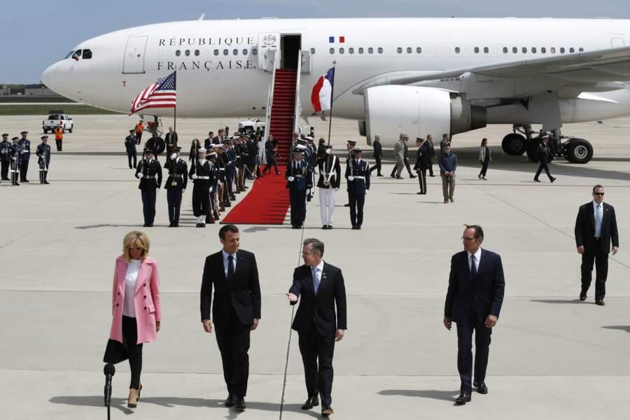 Brigitte et Emmanuel Macron sont arrivés lundi 23 avril aux États-Unis pour une visite d'État de trois jours