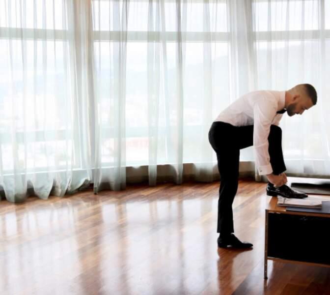 Justin Timberlake en pleine répétition de son numéro