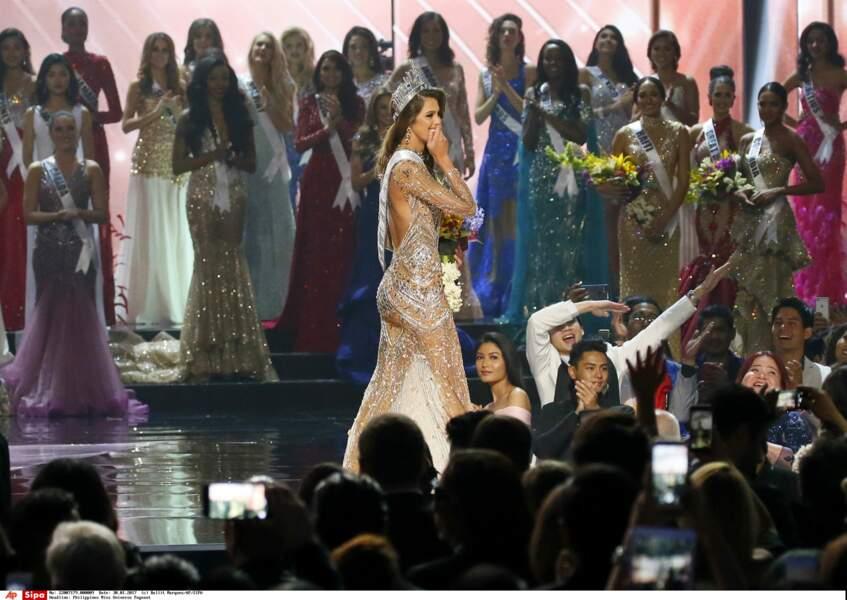 Iris Mittenaere ne cachait pas sa joie d'être Miss Univers