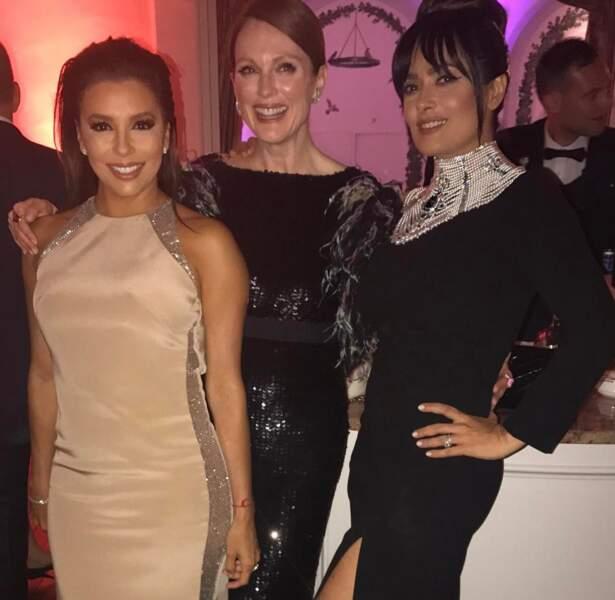 Eva Longoria, Julianne Moore, Salma Hayek… Sacré trio