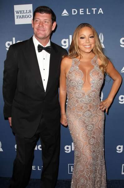 La chanteuse Mariah Carey et James Packer, en couple depuis 2015.