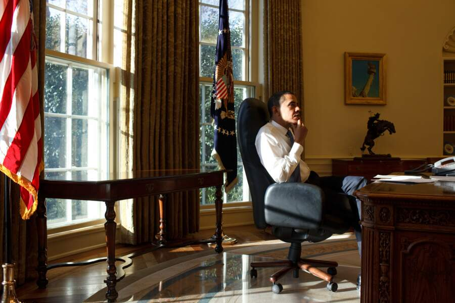 Moment de réflexion pour le président américain