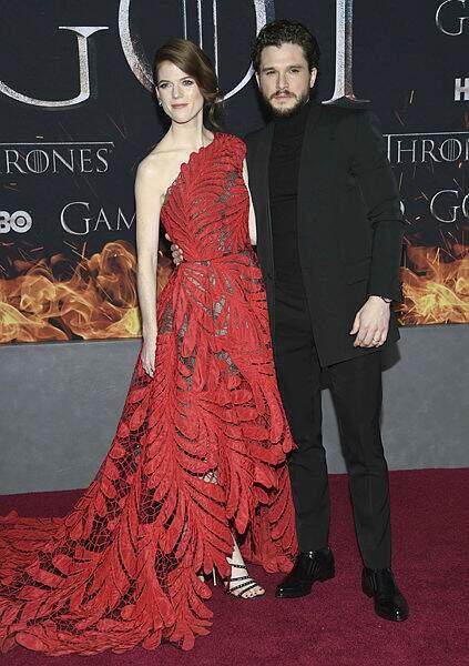 Le couple le plus glamour de la soirée : Rose Leslie et Kit Harington !