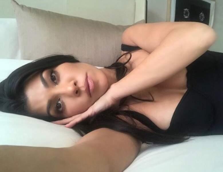 Kourtney Kardashian était prête pour une petite sieste.
