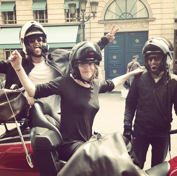 Trop d'amour ! Too much love comme dirait Courtney Love à ces motards après l'attaque de son Uber hier.