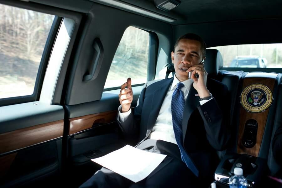 Etre Président, c'est aussi travailler en voiture