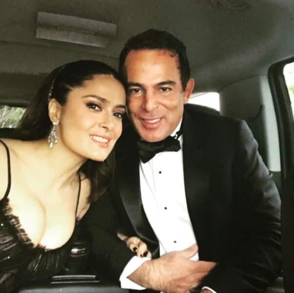 Salma Hayek et Eugenio Lopez en route vers la cérémonie
