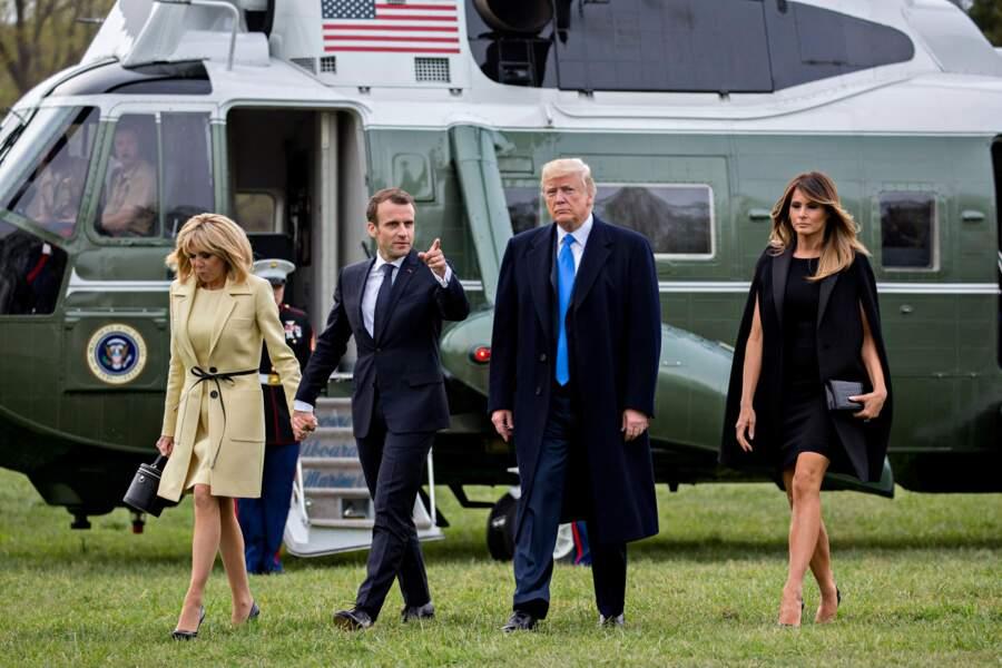 Accueillis par les Trump, les Macron ont visité la Maison-Blanche à Washington pour leur premier jour