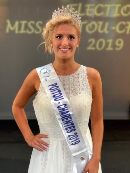 Andréa Galland est Miss Poitou-Charentes