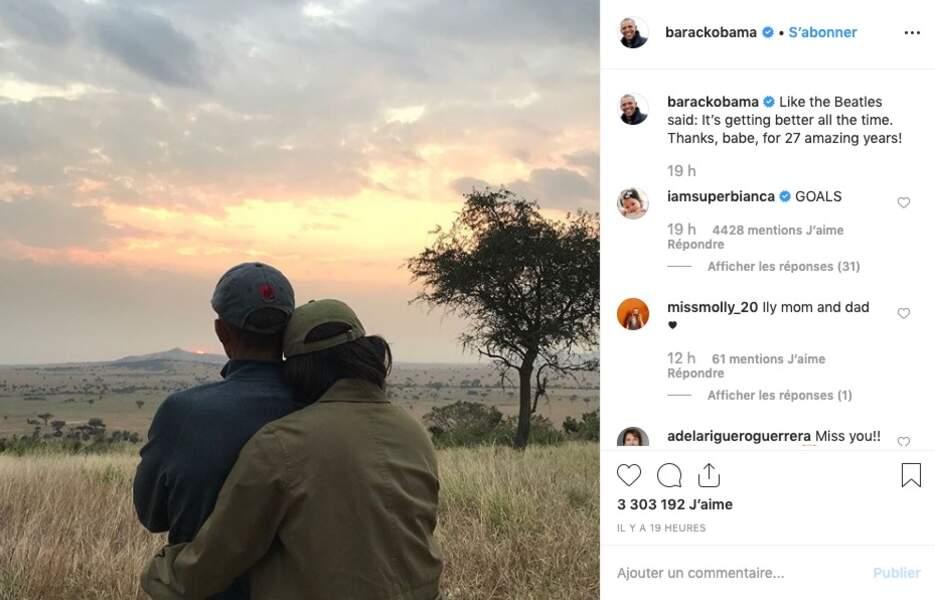 Quoi de plus romantique qu'un coucher de soleil ? Demandez aux Obama !