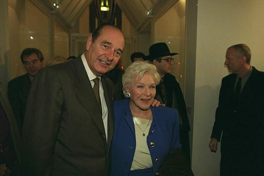 Les époux Chirac au 20e anniversaire du Centre Pompidou à Paris, en 1997.