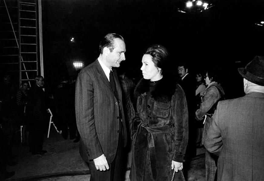 Jacques Chirac avec Marie-France Garaud, le 18 novembre 1973.