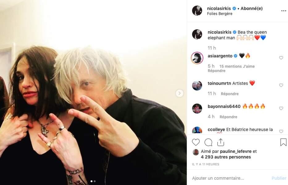 Il n'y a pas d'âge pour être rock ! N'est-ce pas Béatrice Dalle et Nicolas Sirkis ?