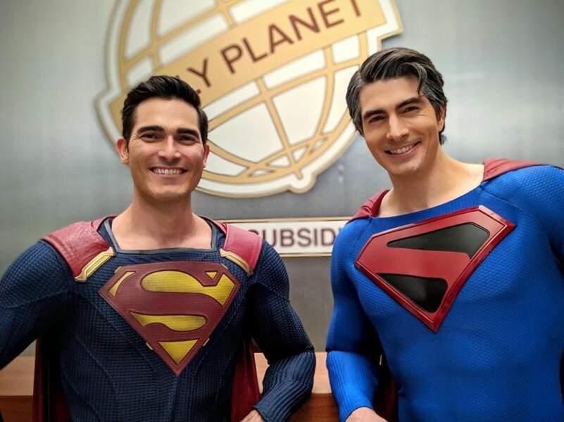 Tyler Hoechlin et Brandon Routh, incarnant deux Superman, sont heureux de se retrouver pour le crossover Crisis on Infinite Earths
