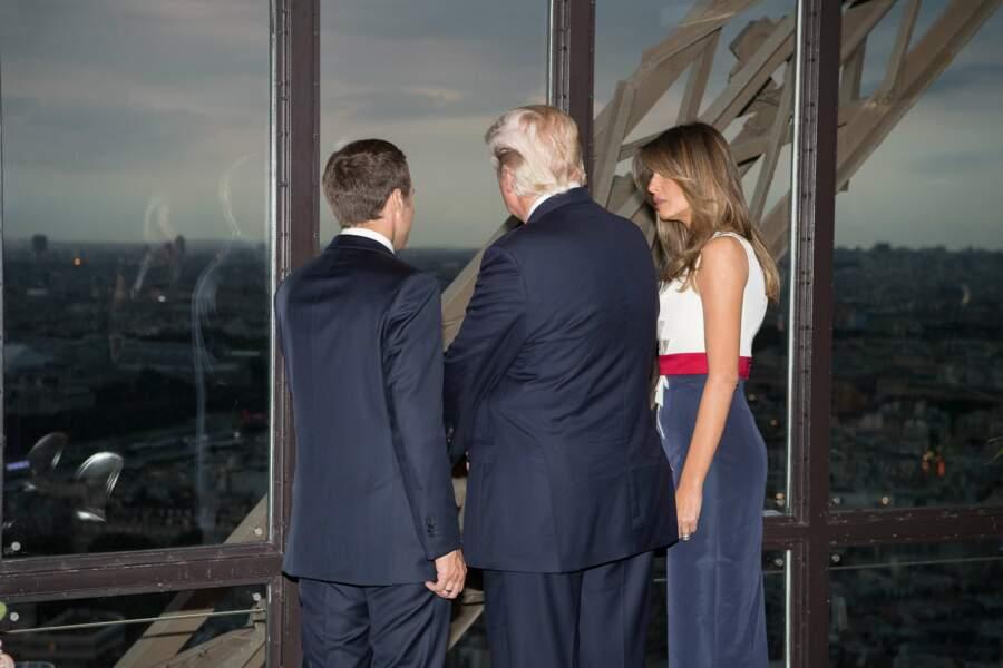 Mais il a eu l'air d'apprécier la vue sur Paris