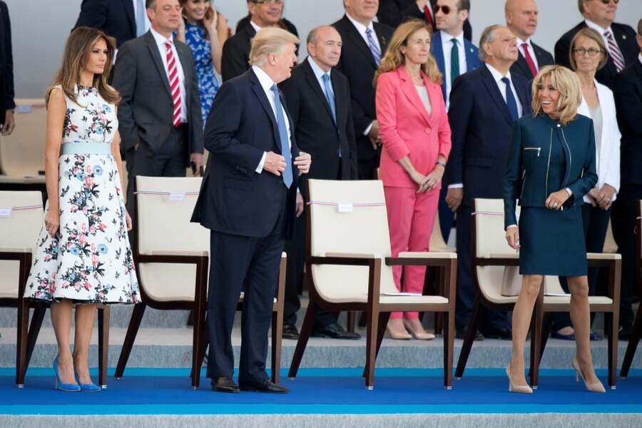 Le lendemain, les Trump et les Macron se sont retrouvés sur les Champs-Elysées pour le défilé du 14-Juillet