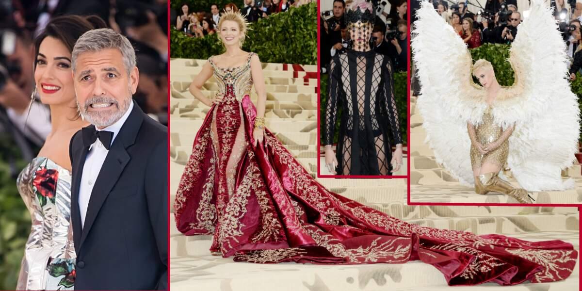 Amal et George Clooney, Blake Lively… les stars étaient sur leur 31 pour le Met Gala 2018