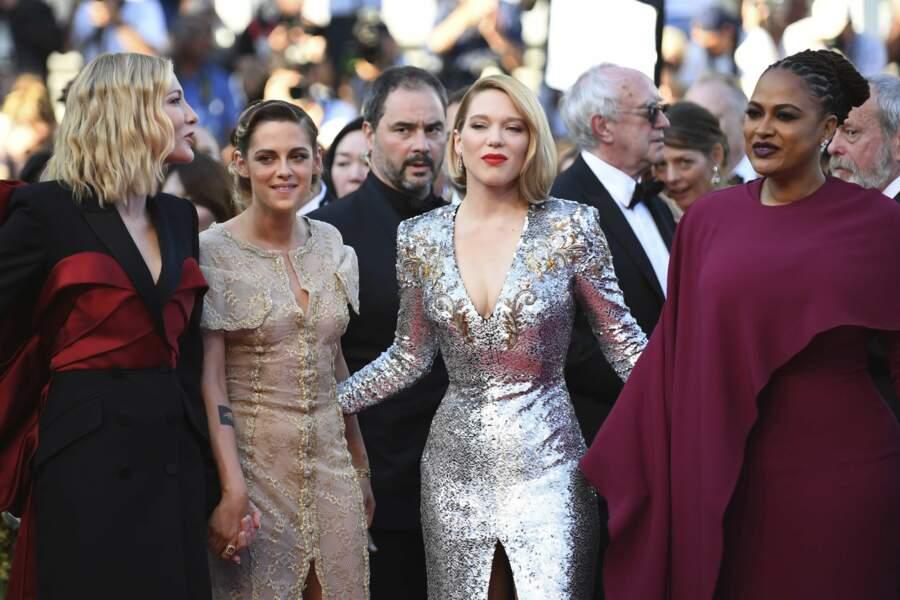 Les membres du jury à la côture du Festival de Cannes