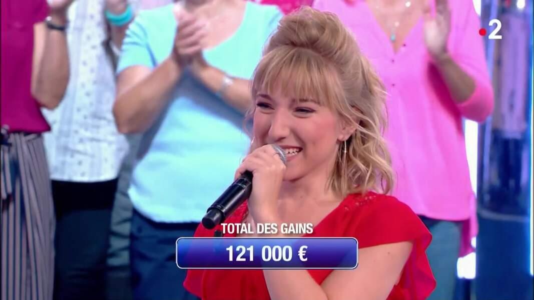 N°30 Sarah avec 121 000 € et 33 victoires